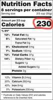 The calories area would get a larger font and be much bolder than on the old label.