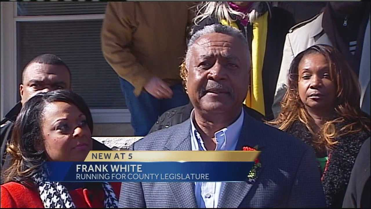 Former Kansas City Royal Frank White announces he is running for a seat on the Jackson County Legislature.