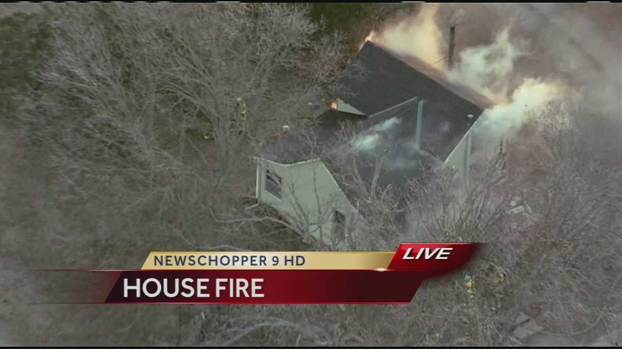 Farmhouse on fire in southern Johnson County