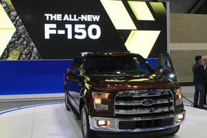 Built in Claycomo. The F-Series trucks is completely redesigned for the 2015 model year, with enhancements like an aluminum-alloy body on a steel frame, LED headlights, spotlights on the side mirrors and a remote release for the tailgate.