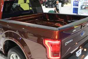 According to Ford Motor Company, the extensive use of aluminum shaved about 700 pounds off the weight of the truck. The company says that weight reduction helps the new F-150 tow more, haul more, accelerate faster and stop quicker.