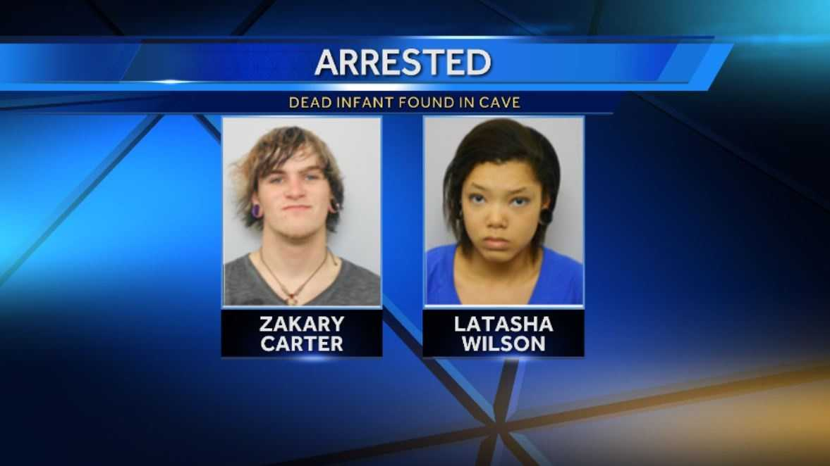 Latasha Wilson and Zakary Carter each face a felony after a baby's body was found.