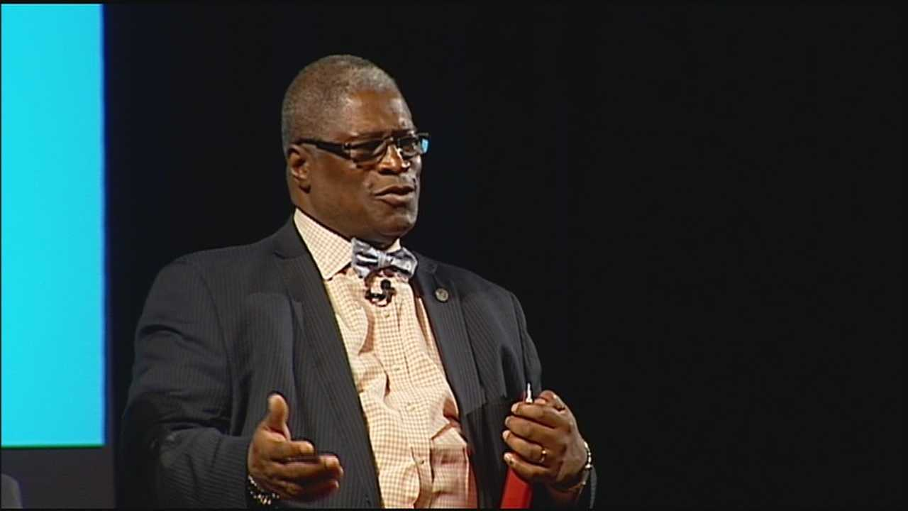 In a State of the City speech at Park Hill High School Monday, Kansas City Mayor Sly James said jobs and activities to keep young people occupied will help prevent them from causing problems.