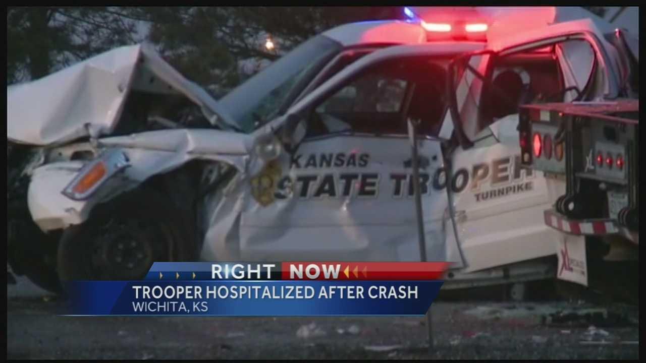 Kansas Highway Patrol trooper hurt, Wichita