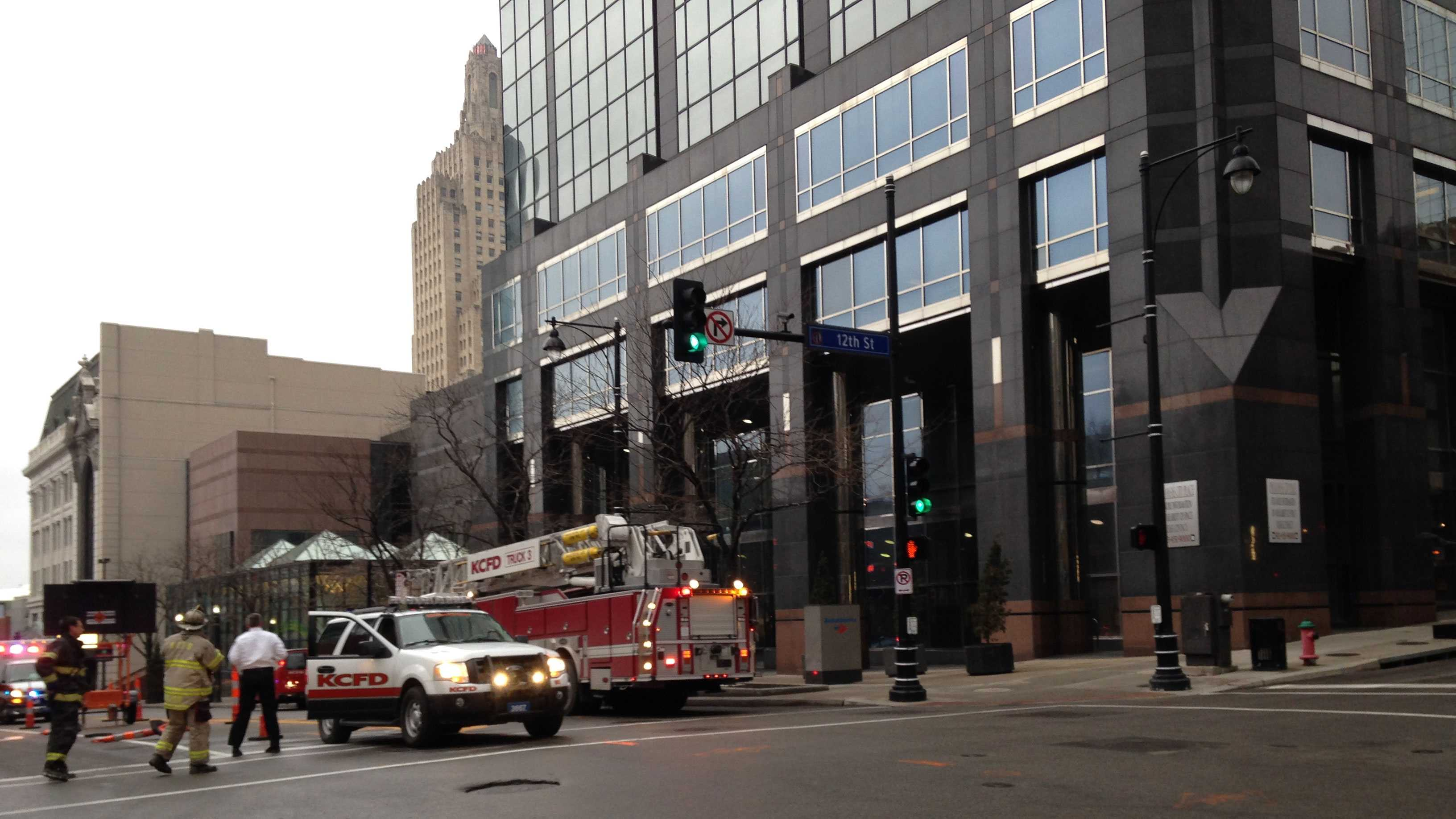 Downtown fire call