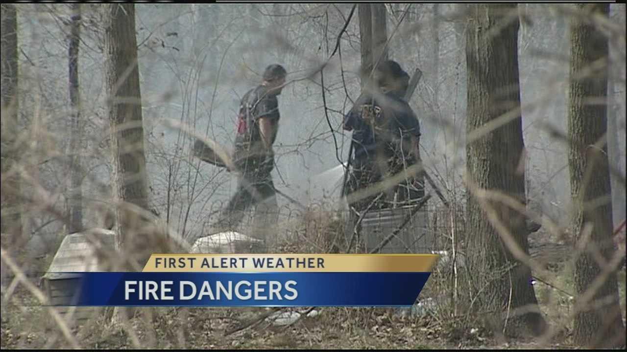 High wind boosts fire danger across the region