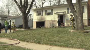 Firefighters were called to the house in the 10000 block of England Drive about 11 a.m. after reports of a garage fire. Crews said they made sure everyone was out of the house quickly and got the fire out.