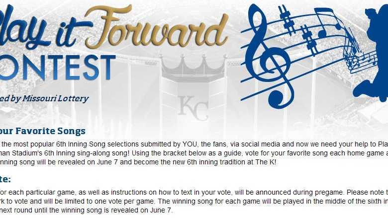 Kansas City Royals Sixth Inning Song Contest