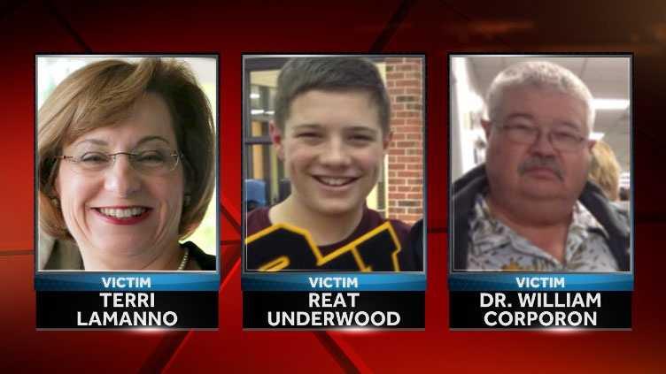 Image Shooting victims photos LaManno, Underwood, Corporon