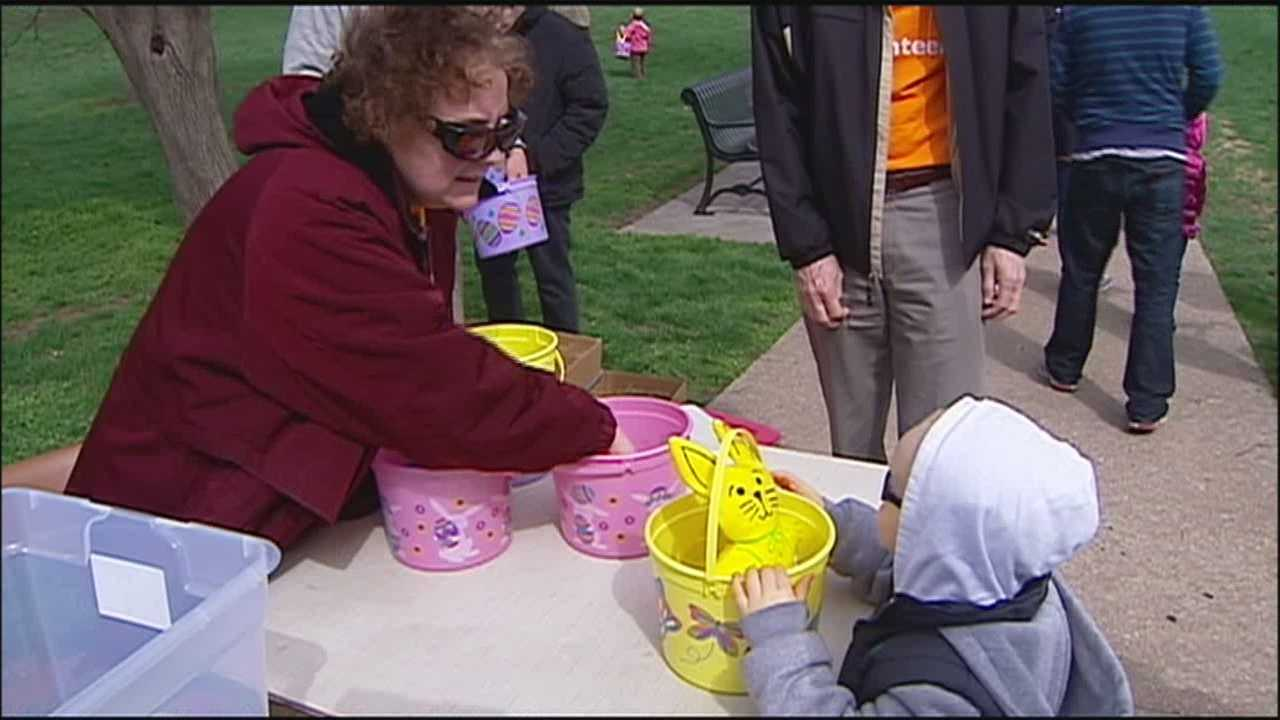 An Easter egg hunt for children with visual impairments offered a break from the sorrow for the staff at the Children's Center for the Visually Impaired, where shooting victim Terri LaManno worked.