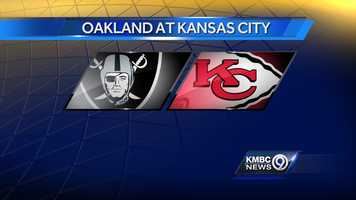 WEEK FIFTEEN: The Oakland Raiders will play the Kansas City Chiefs at Arrowhead Stadium on Sunday, Dec. 14 at noon.
