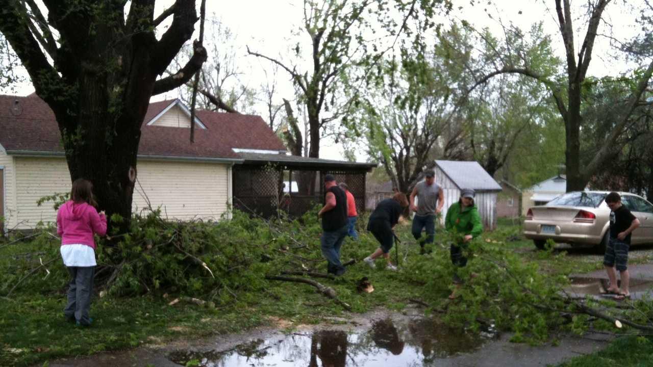 Holden, Missouri storm damage