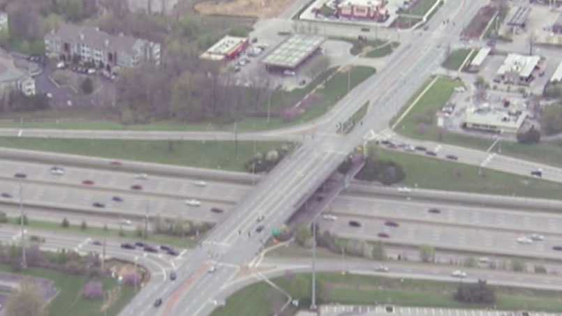 Image Interstate 435 and Roe interchange