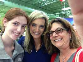 KMBC 9 News Meteorologist Erin Little takes a selfie with two amazing viewers.