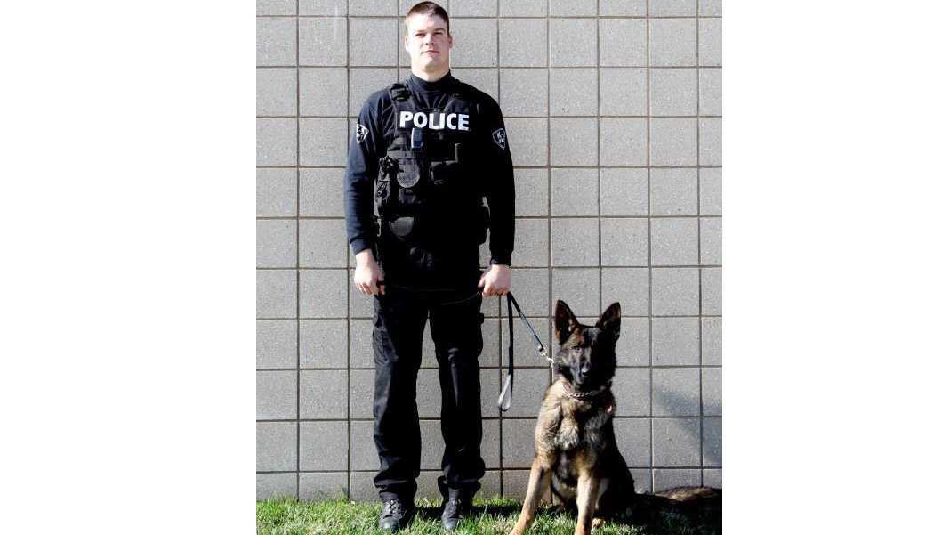 New Lenexa police dog, Buck