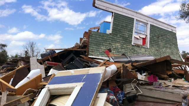 Baxter Springs tornado damage