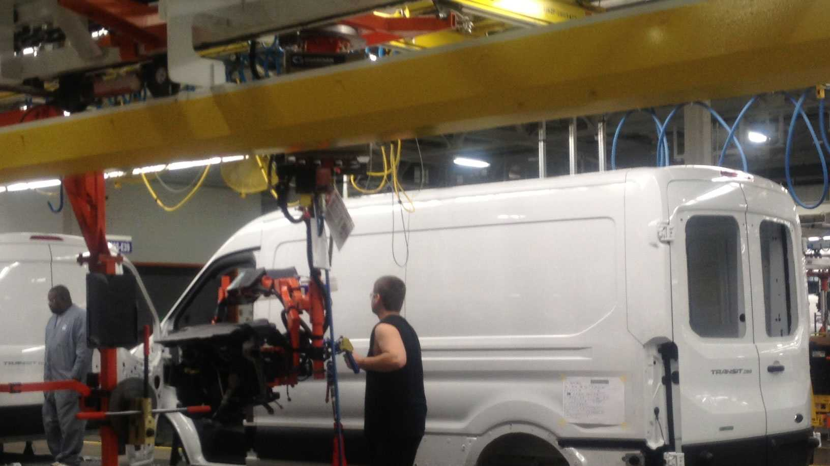 Ford Transit on the production line