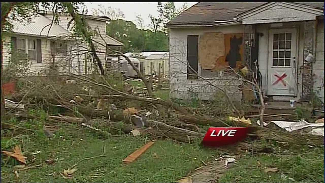 People in Orrick, Mo., said they're counting their blessings Sunday -- a day after a tornado left behind widespread damage but resulted in no injuries or loss of life.