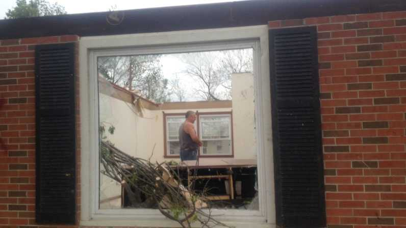 Orrick home with no roof after tornado