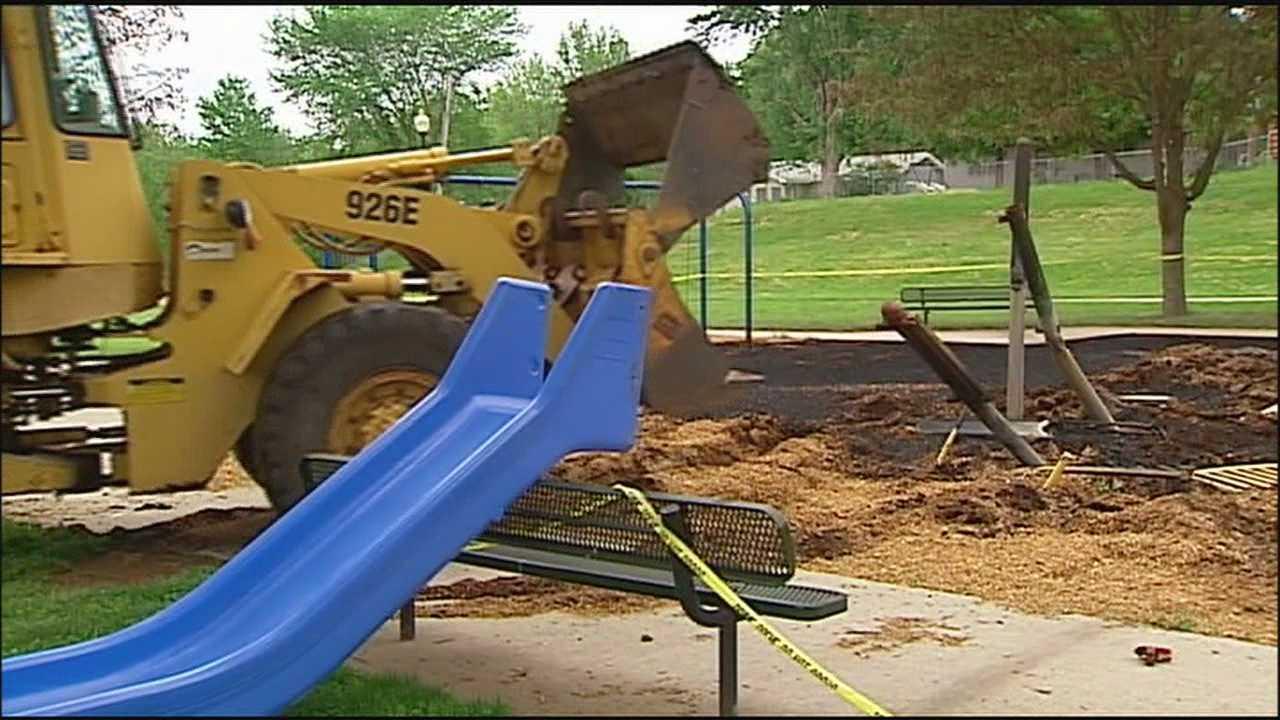 Neighbors saddened by fire set at Independence playground