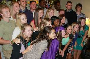 Emily Ackley, a graduating senior at Blue Springs High School, was able to have a private graduation ceremony at her house so that her dying mother could be there to see it.