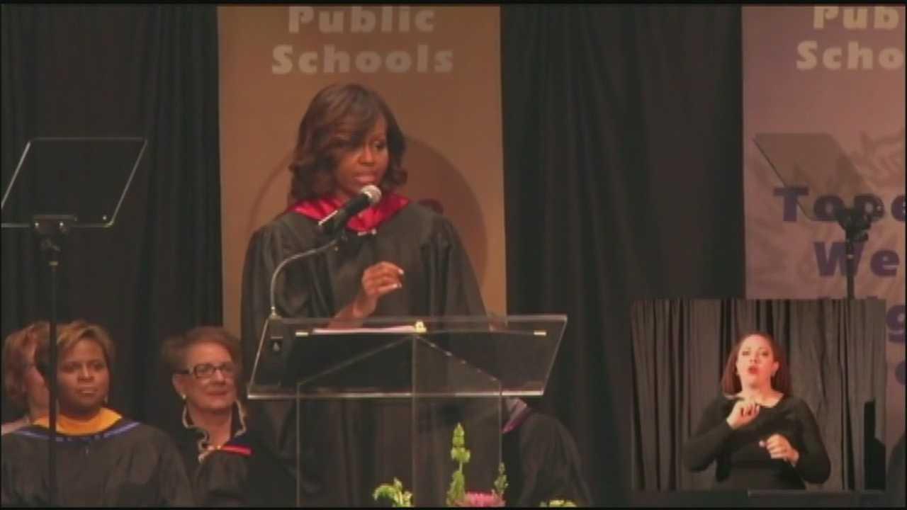 Michelle Obama in Topeka