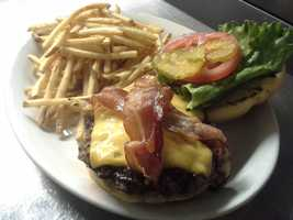 The steakburger from Harry's Country Club in the River Market.