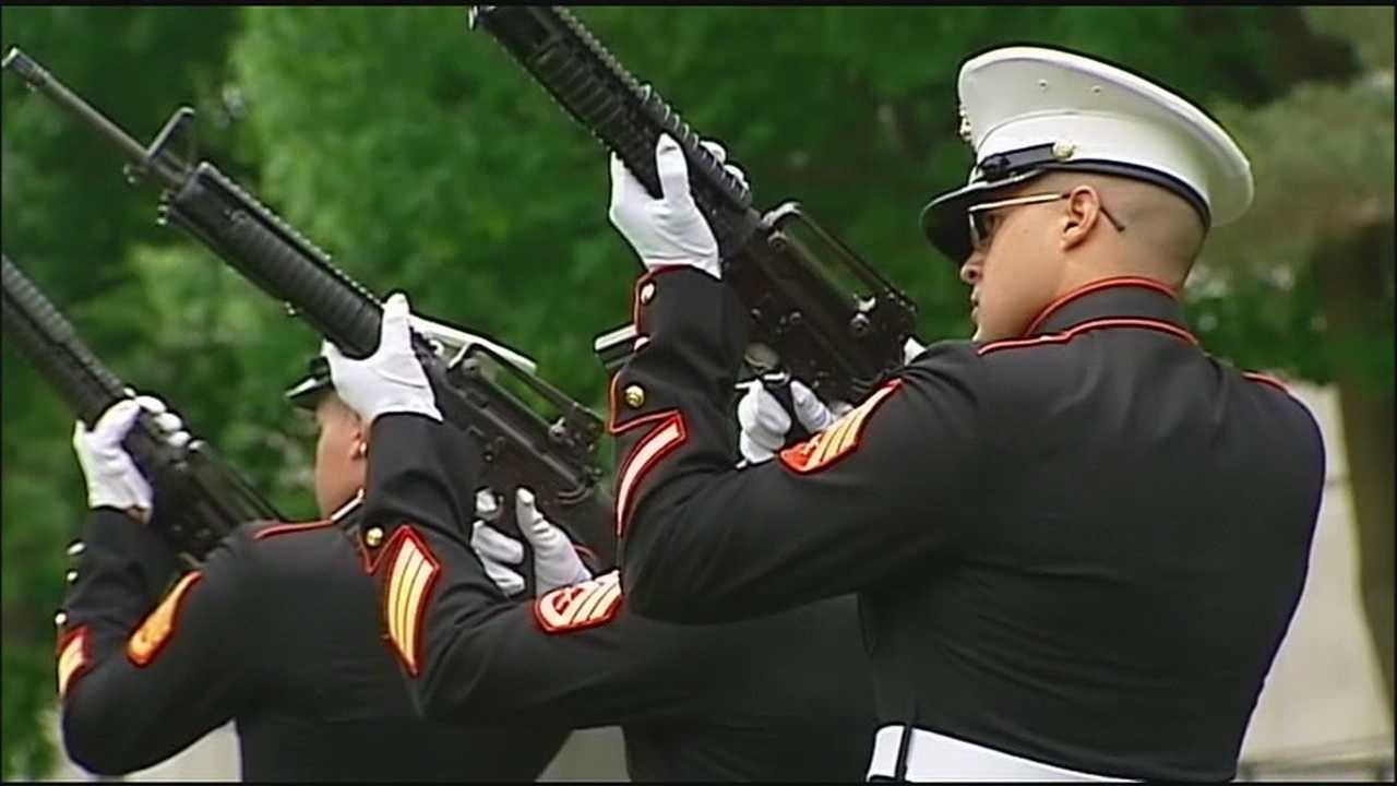 Image Marines at Mount Moriah cemetary