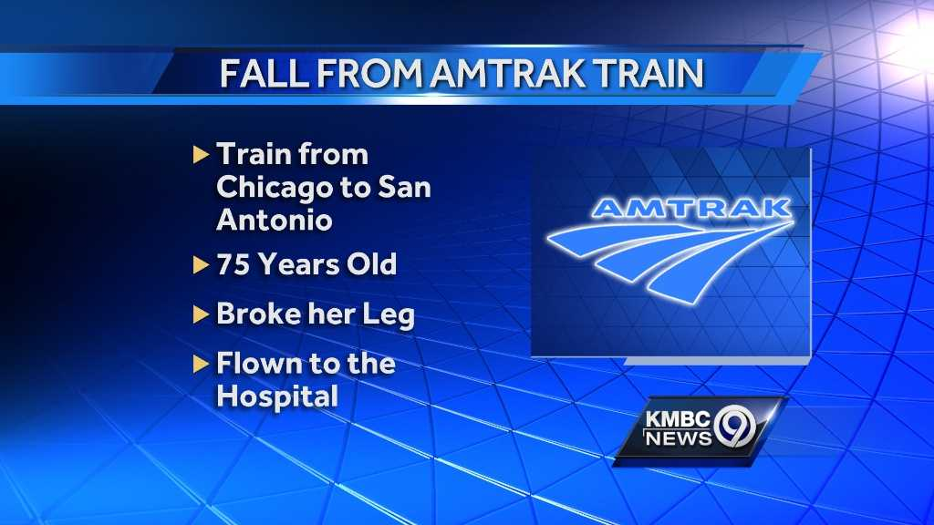 Image Woman falls from Amtrak train - graphic