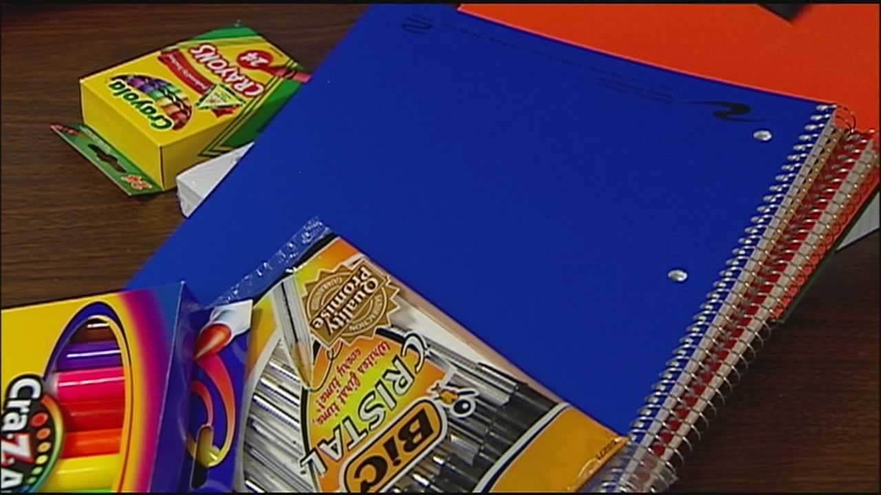 Image generic school supplies