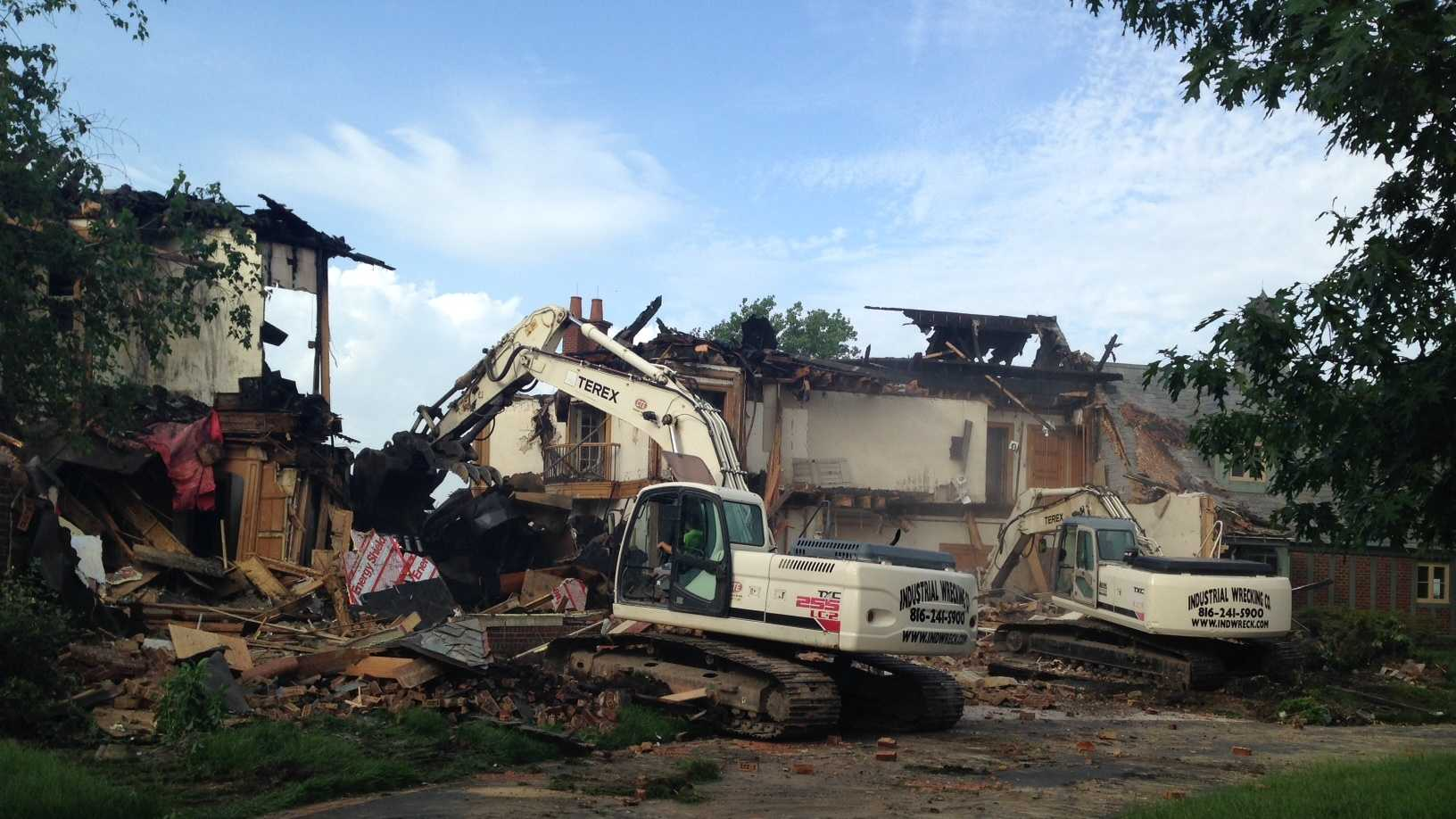Garney Mansion demolition