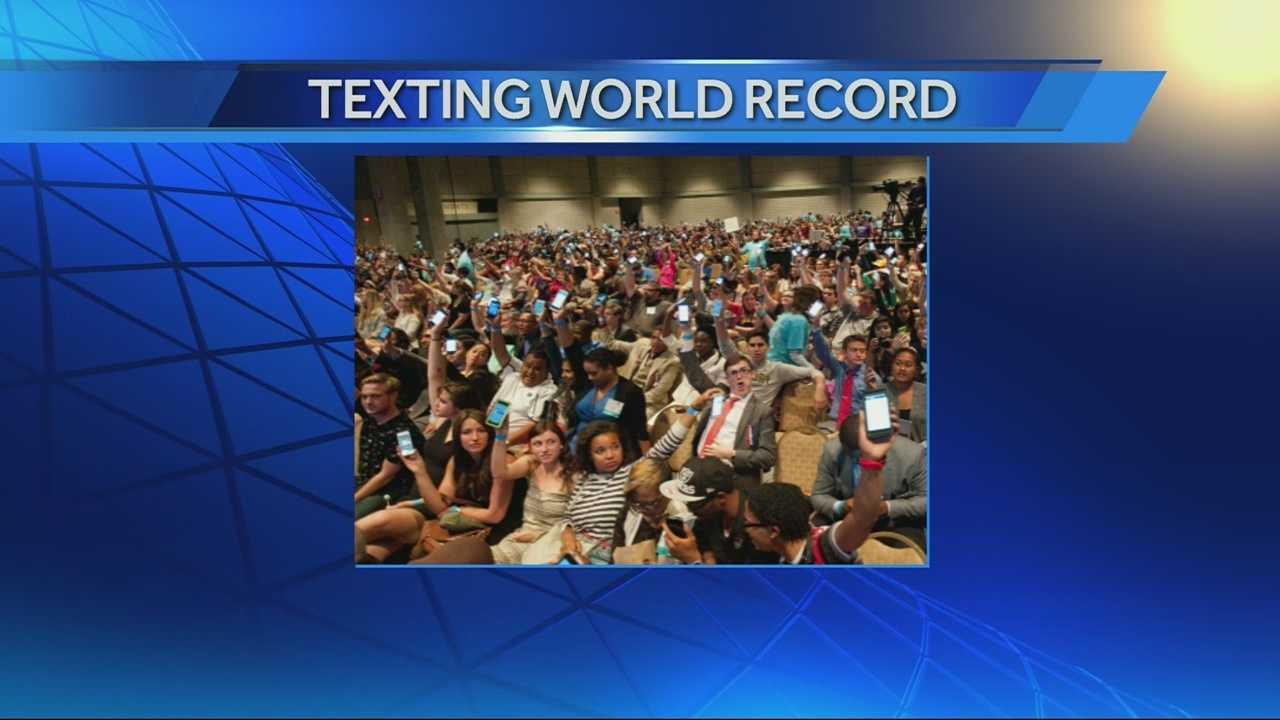 Texting record