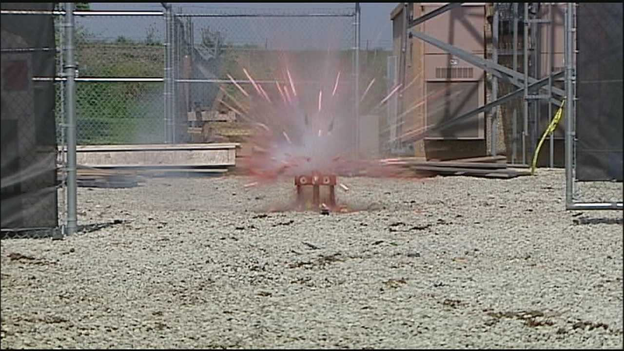 Fireworks safety demonstrations carry serious message