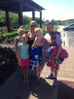 The Woodruff family is ready for the pool at Legacy Park.