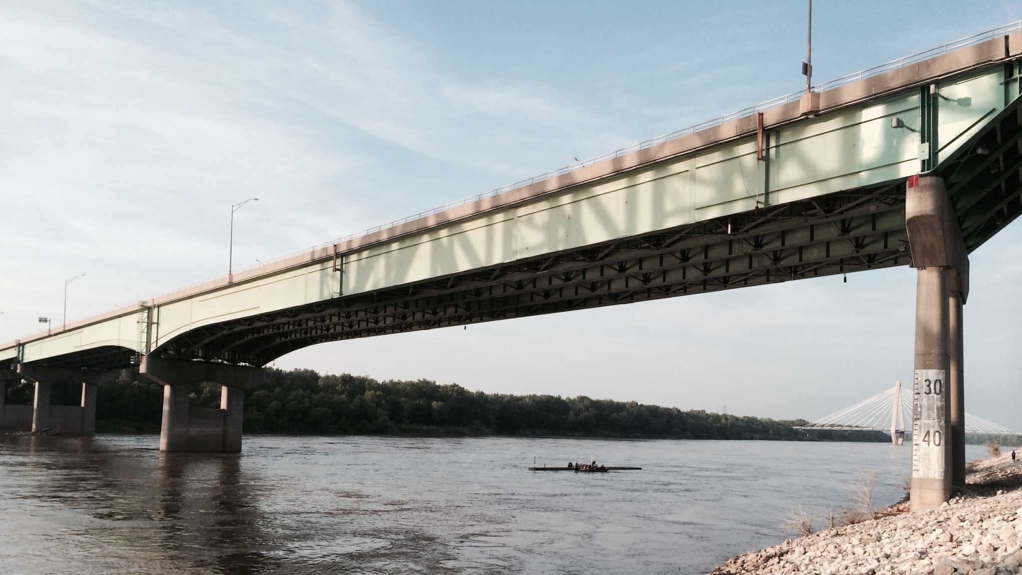 Police closed several bridges over the Missouri River due to a runaway dock that they fear could hit a bridge pillar.