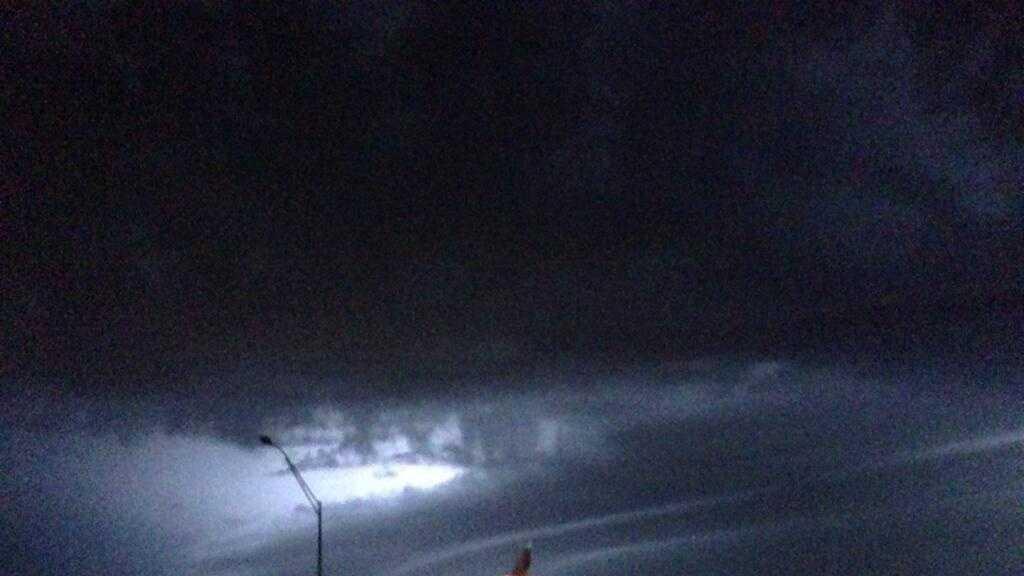 Monday night lightning