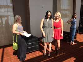 """Images from Kansas City's """"Bachelor"""" casting call, where employees from the show were looking for women to appear in an upcoming season."""