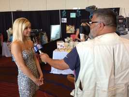 """Images from Kansas City's """"Bachelor"""" casting call, where employees from the show were looking for women to appear in an upcoming season. Laz Abalos interviews a candidate."""