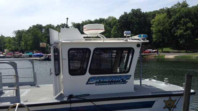 Water patrol boat, Wyandotte County Sheriff