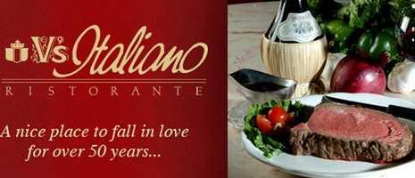 What's Donna's favorite restaurant? V's Italiano Ristorante.