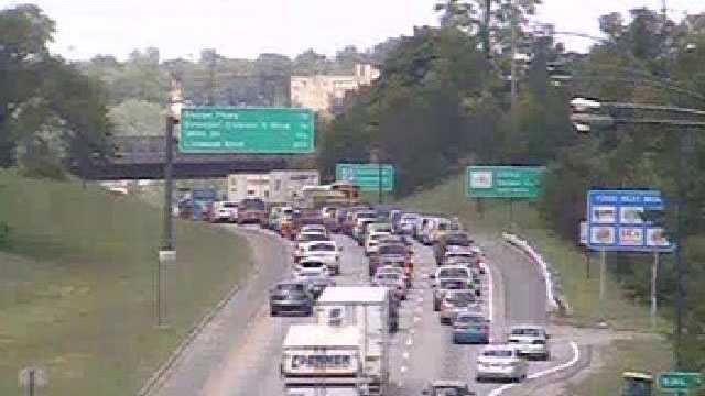 US 71 traffic stopped