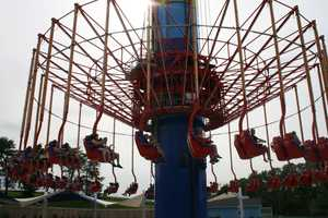 """KMBC's """"Hometown Weather"""" tour traveled to Worlds of Fun Thursday. Guests enjoyed themselves on the SteelHawk ride."""