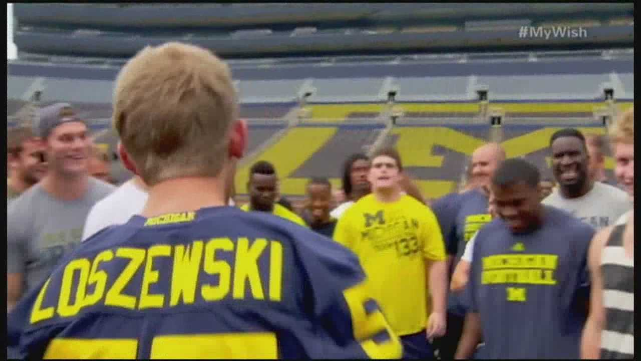 Grain Valley teen, Michigan fan gets sports wish granted