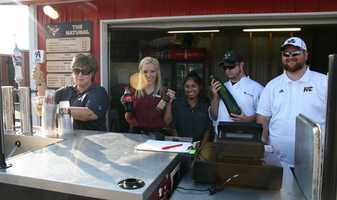 The concession crew at T-Bones makes sure fans are hydrated (along with other cold beverages). The chef also contemplates what to make with a huge zucchini crop.