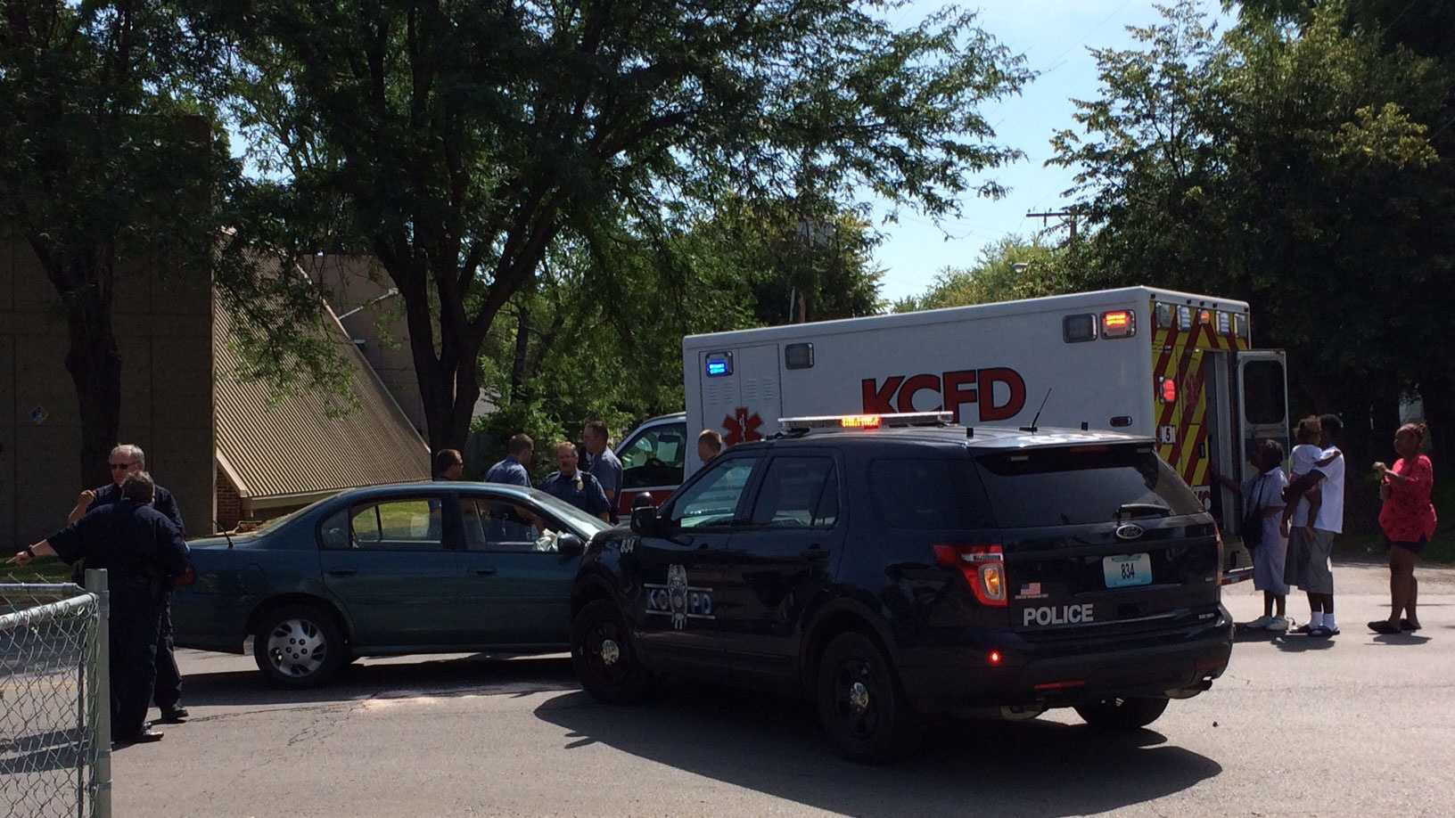 Police SUV, car collide at 22nd, Hardesty
