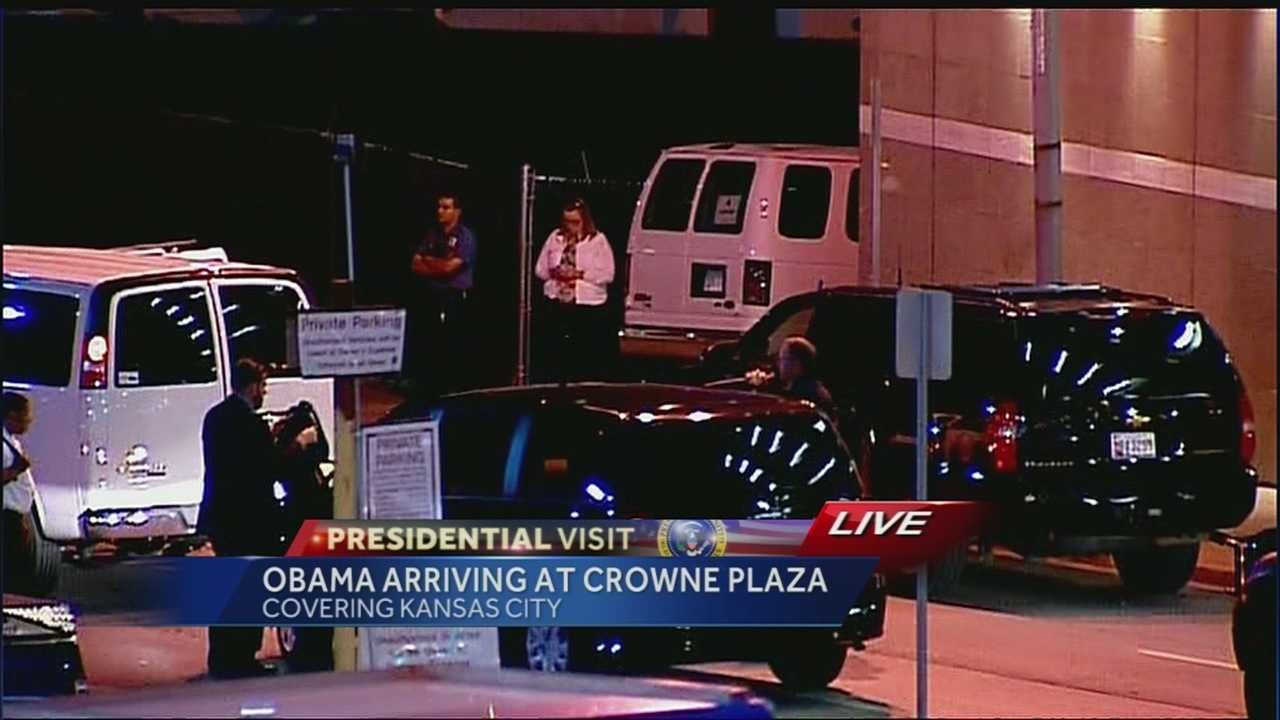 President Obama spends the night in downtown Kansas City