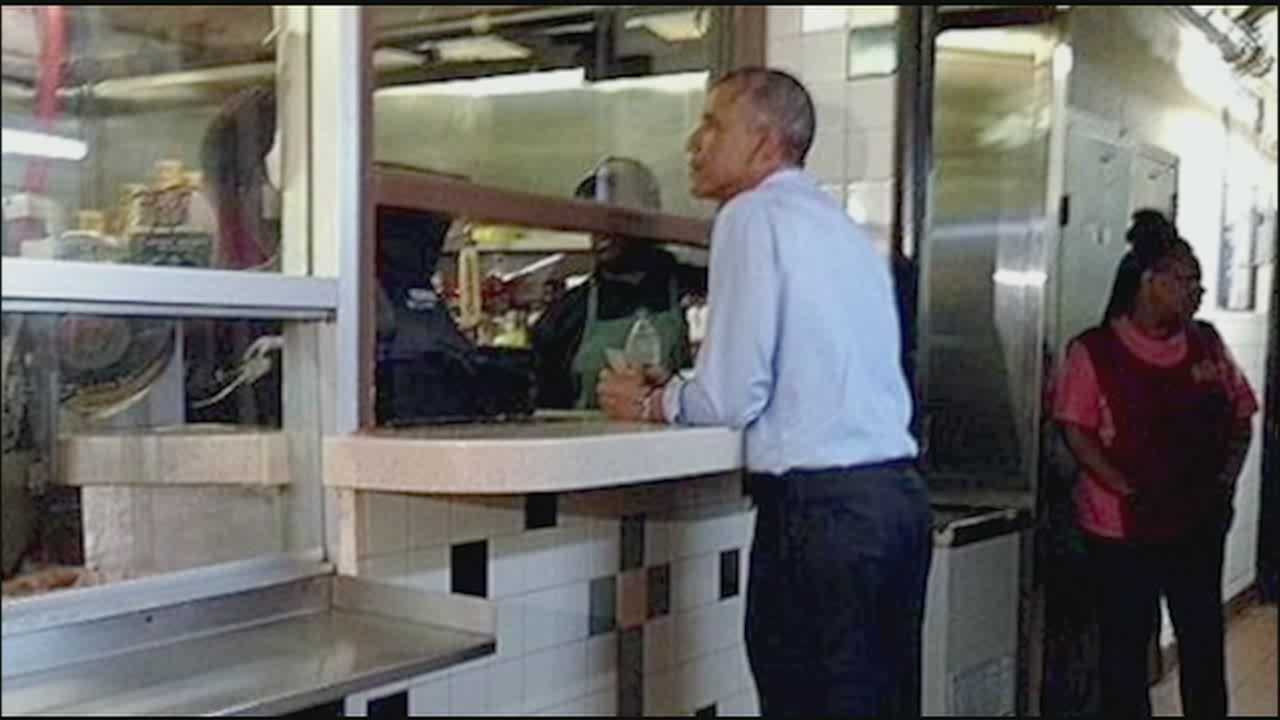 President Obama asks: Where's the cole slaw?