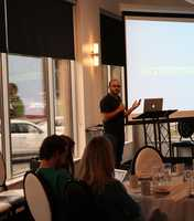 The Social Media Club of Kansas City held its monthly breakfast Friday morning.  VML's Gatoarade account team gave a presentation called #OwningYourHashtag.  VML representatives explained how young social media consumers don't engage with generic questions.  The VML team talked about how Gatorade reshaped its #WinFromWithin hashtag campaign.