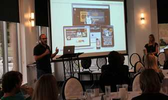 "The Social Media Club of Kansas City held its monthly breakfast Friday morning.  VML's Gatorade account team gave a presentation called #OwningYourHashtag.  VML representatives explained how they highlighted a dozen different athletes to engage in Gatorade's hashtag campaign.  This includes tennis star Venus Williams tweeting ""yes, it's 4 a.m. #WinFromWithin,"" after an early morning wake-up call to train."