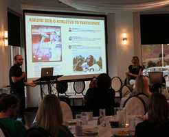 The Social Media Club of Kansas City held its monthly breakfast Friday morning.  VML's Gatorade account team gave a presentation called #OwningYourHashtag.  VML executives say Gatorade found better success using a hashtag to engage professional athletes and teams as compared to tagging them on social media.  For example, the L.A. Kings NHL hockey team engaged in its #WinFromWithin campaign when they tweeted #LAKings (instead of tagging @LAKings on Twitter).